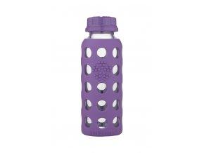 Detská sklenená fľaša Lifefactory 260ml fialová