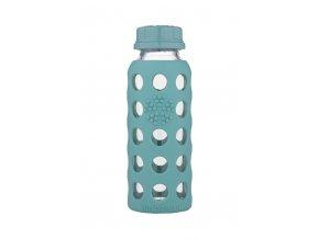 Detská sklenená fľaša Lifefactory 260ml zelená