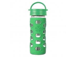 Lifefactory sklenená fľaša 350 ml zelená