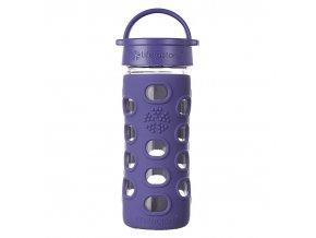 Lifefactory sklenená fľaša 350 ml purple