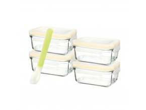 glasslock 5 piece baby food container set rectangle 28096.1518486746