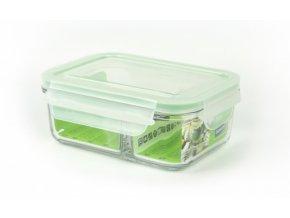 Glasslock sklenena doza na potraviny duo 670 ml