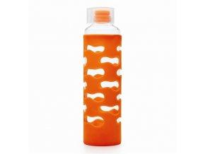 KK sklenena flaša oranzova