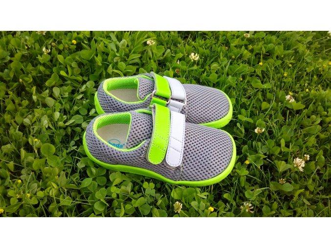 Beda barefoot síťované tenisky Lime