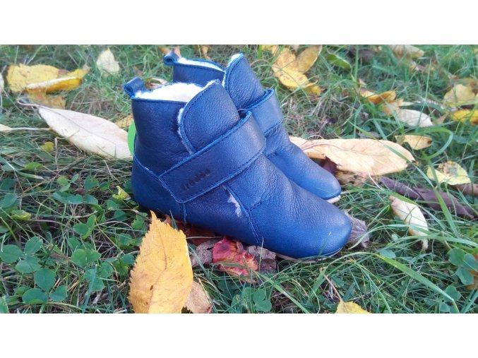 Froddo Prewalkers Dark Blue sheepskin- zimní