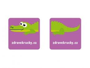 samolepka krokodýl