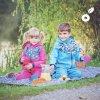 UNUO Softshelová bunda s fleecem Květinky fuchsiové