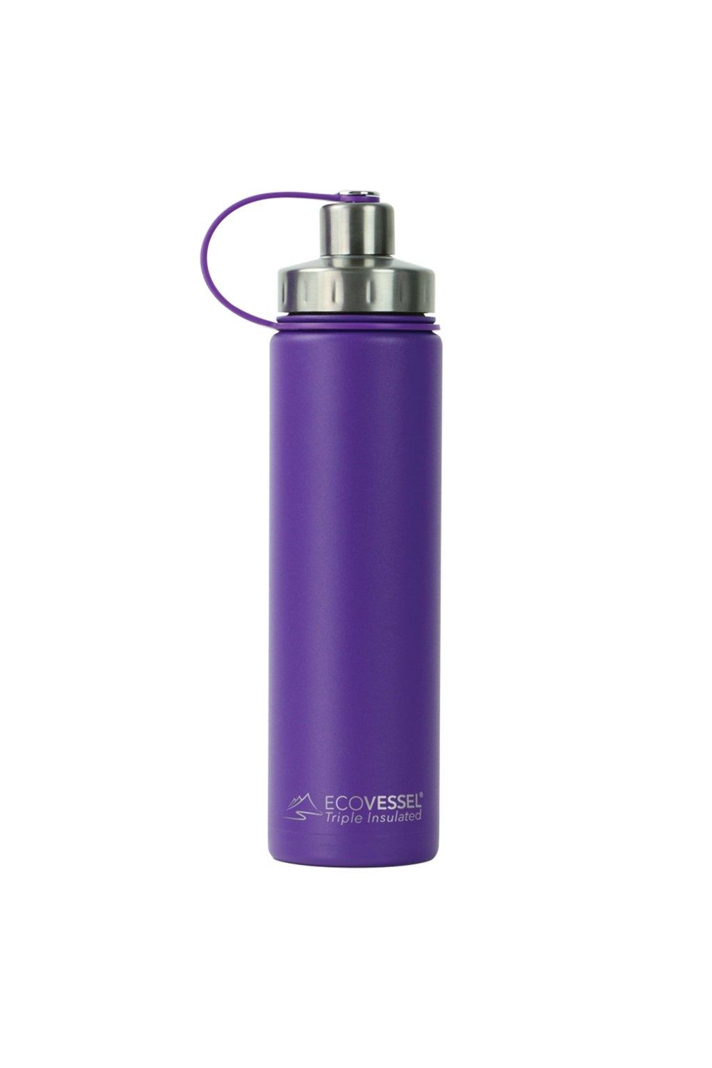 Termo láhev na kolo Eco Vessel 700 ml fialová