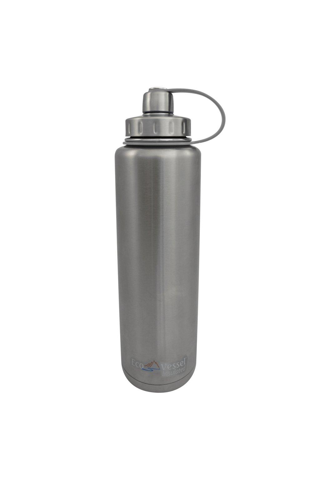 Nerezová termo láhev na turistiku Eco Vessel 1300 ml stříbrná