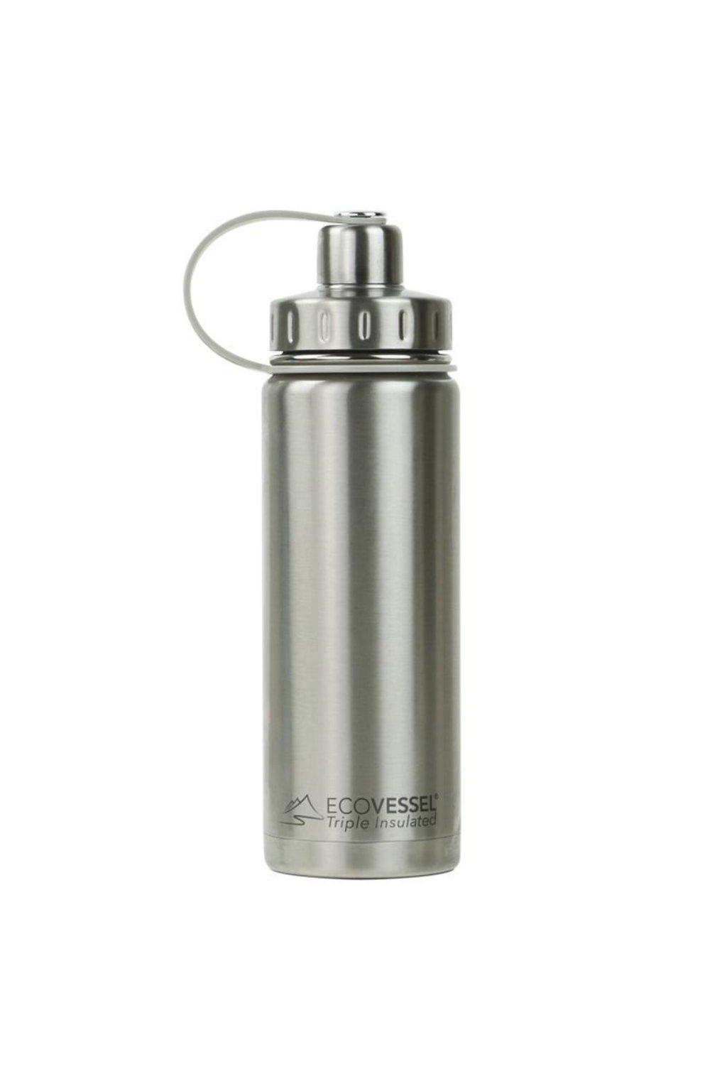 Termo lahev na pití Eco Vessel 600 ml stribrna