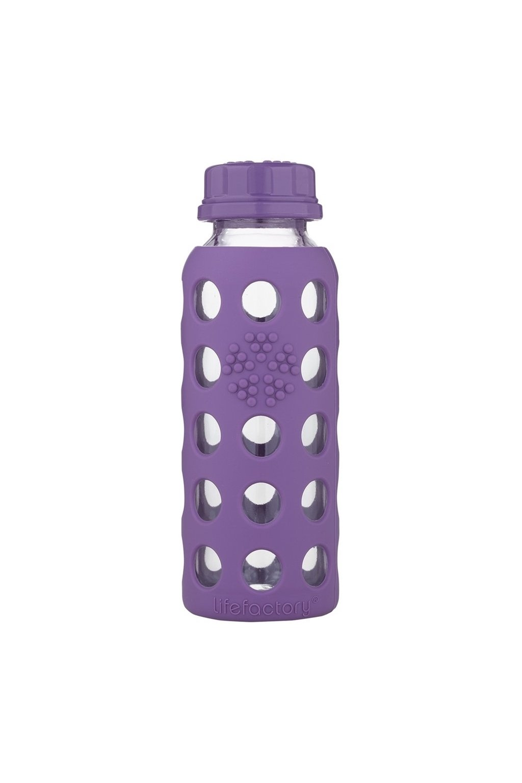 Sklenena lahev pro deti Lifefactory 260 ml fialova