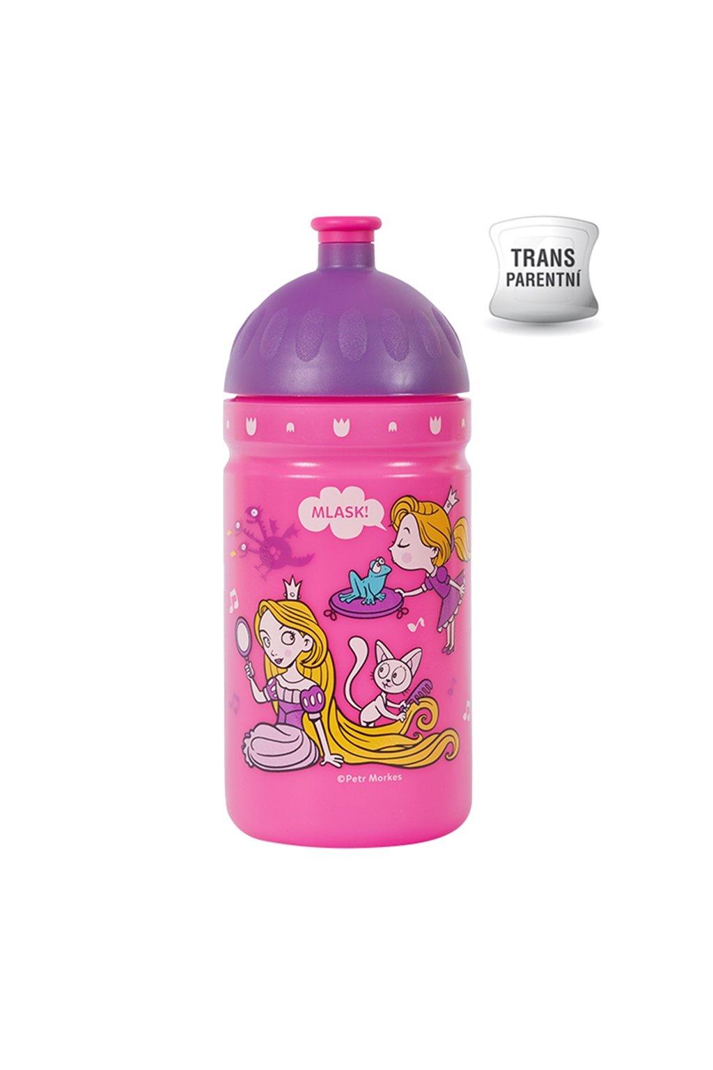 Zdravá lahev pro holky do školy 0,5l svět princezen