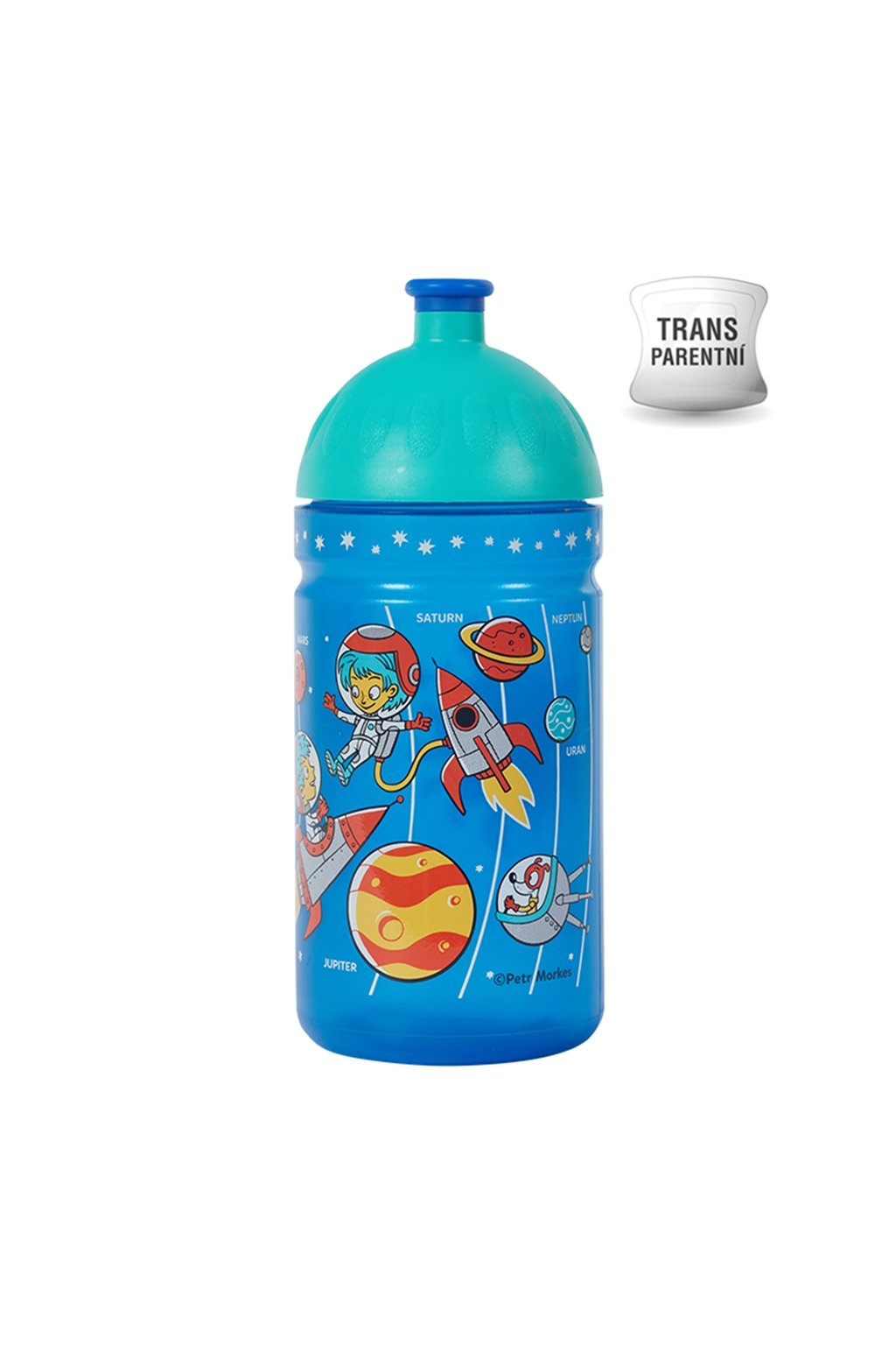 Zdravá láhev pro děti na kolo 0,5 l vesmír
