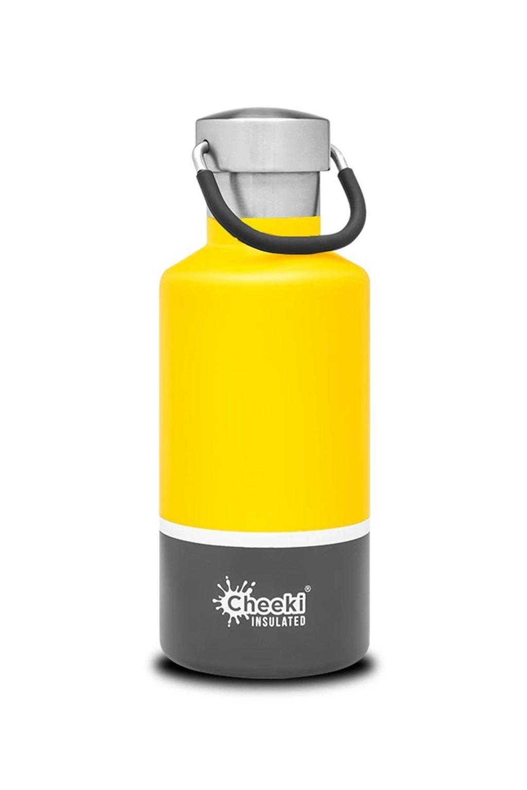 Termo lahev Cheeki 400 ml zluta siva