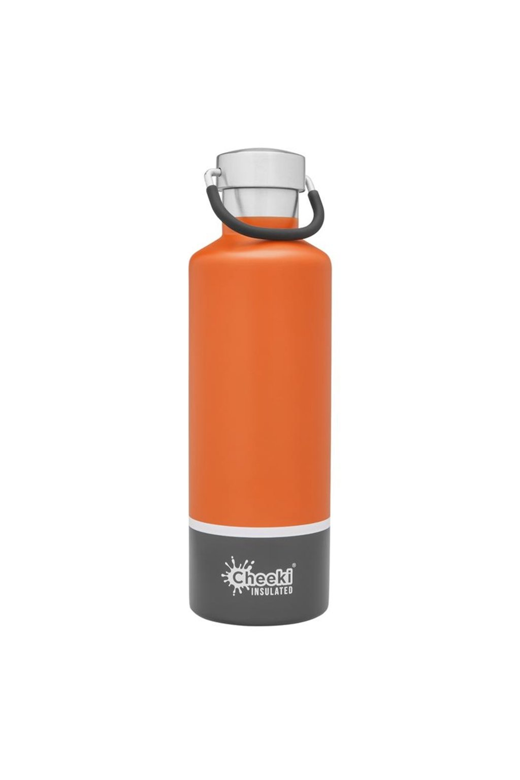 600ml Insulated Classic OrangeGrey Front