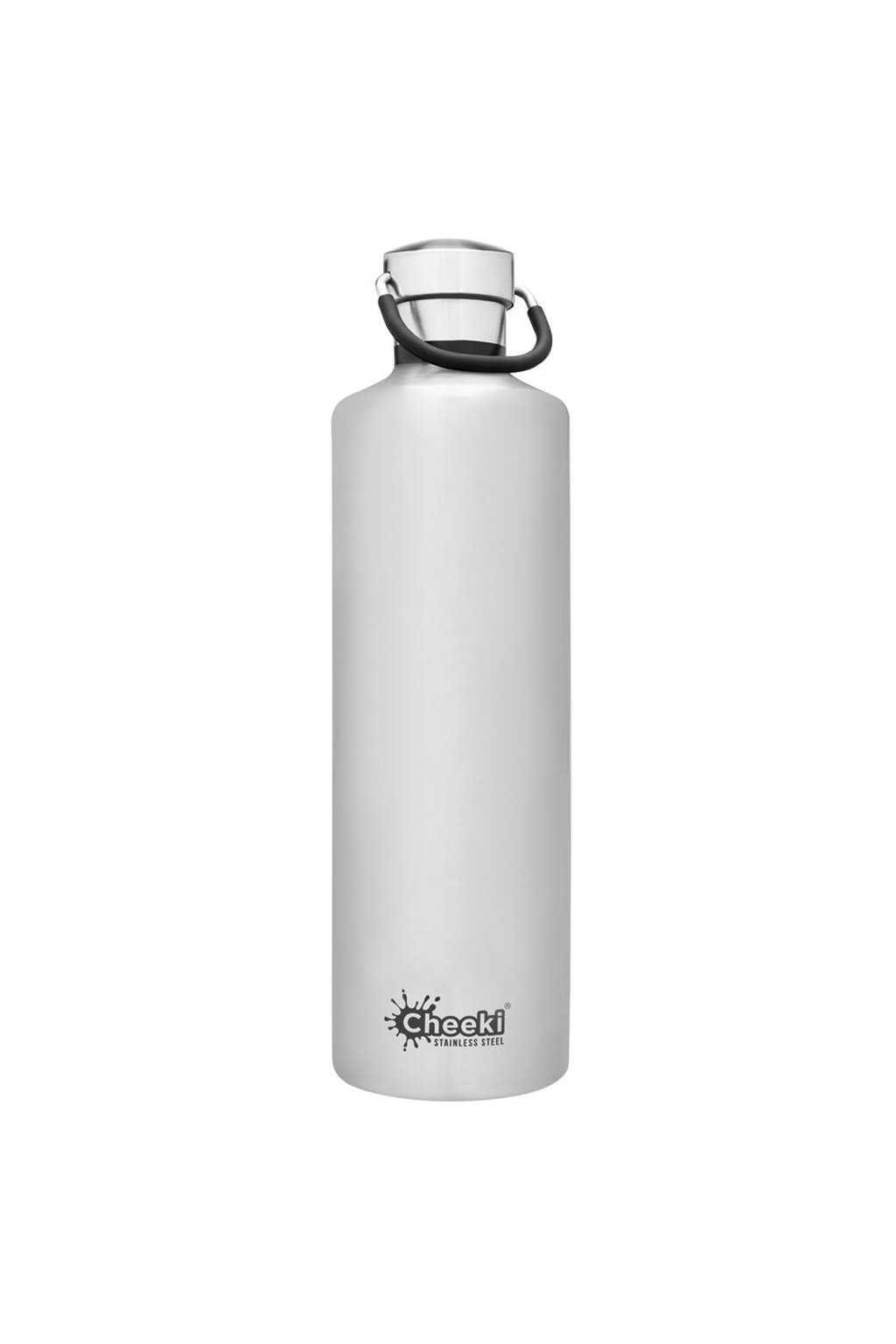 1 Litre Insulated Classic Silver Front