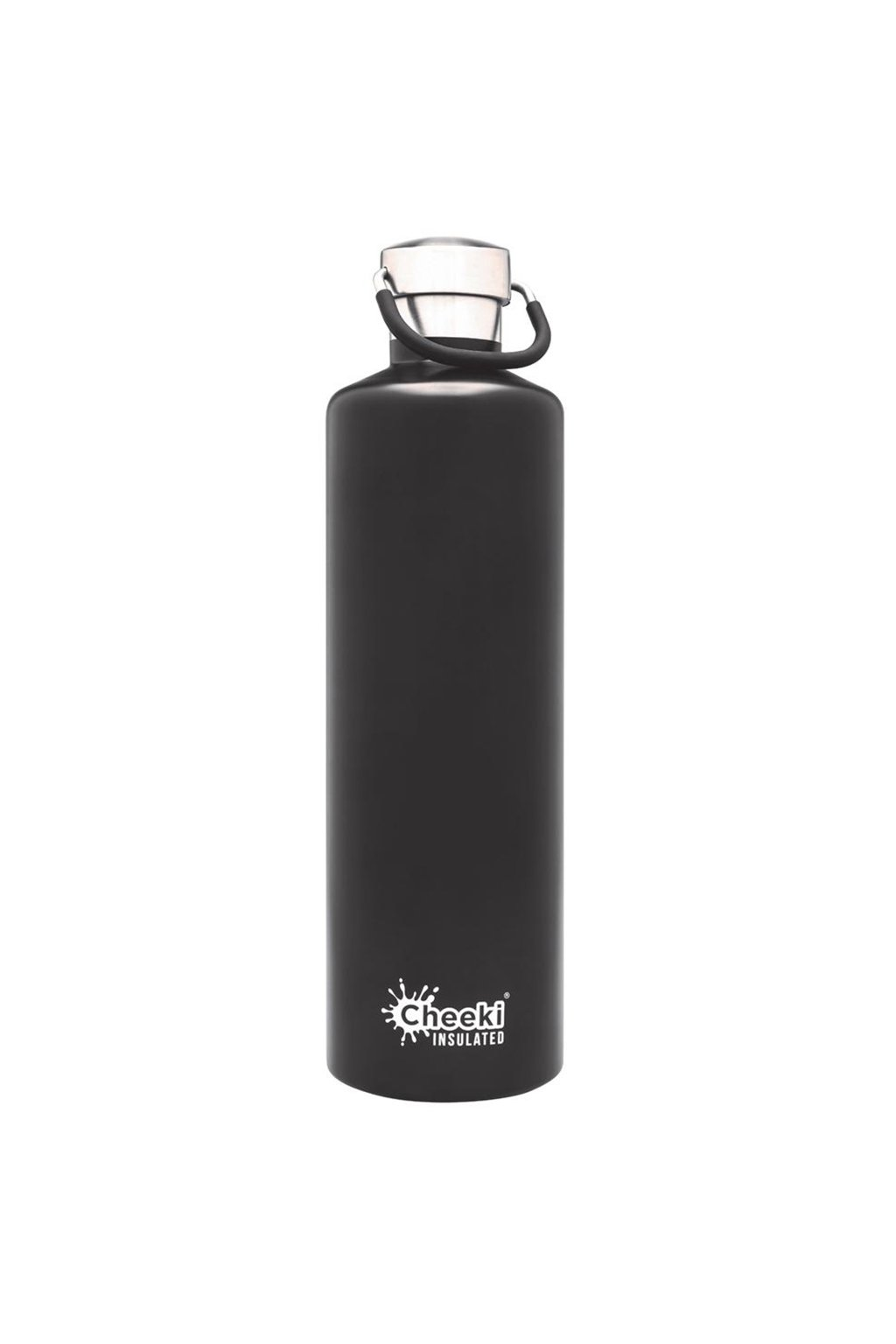1 Litre Insulated Classic Black Front