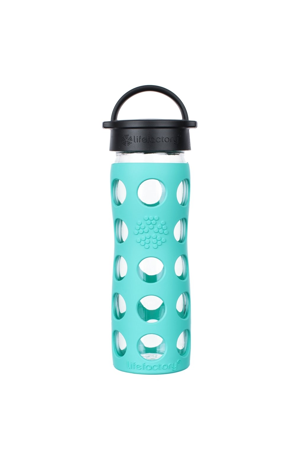 Lifefactory sklenena lahev na vodu 475 ml sea green