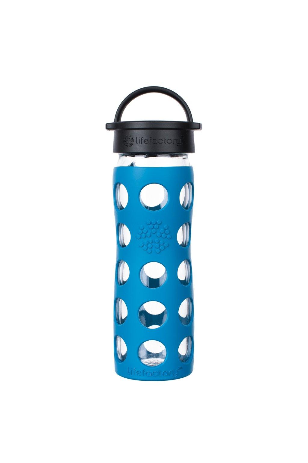 Lifefactory sklenena lahev na vodu 475 ml teal lake