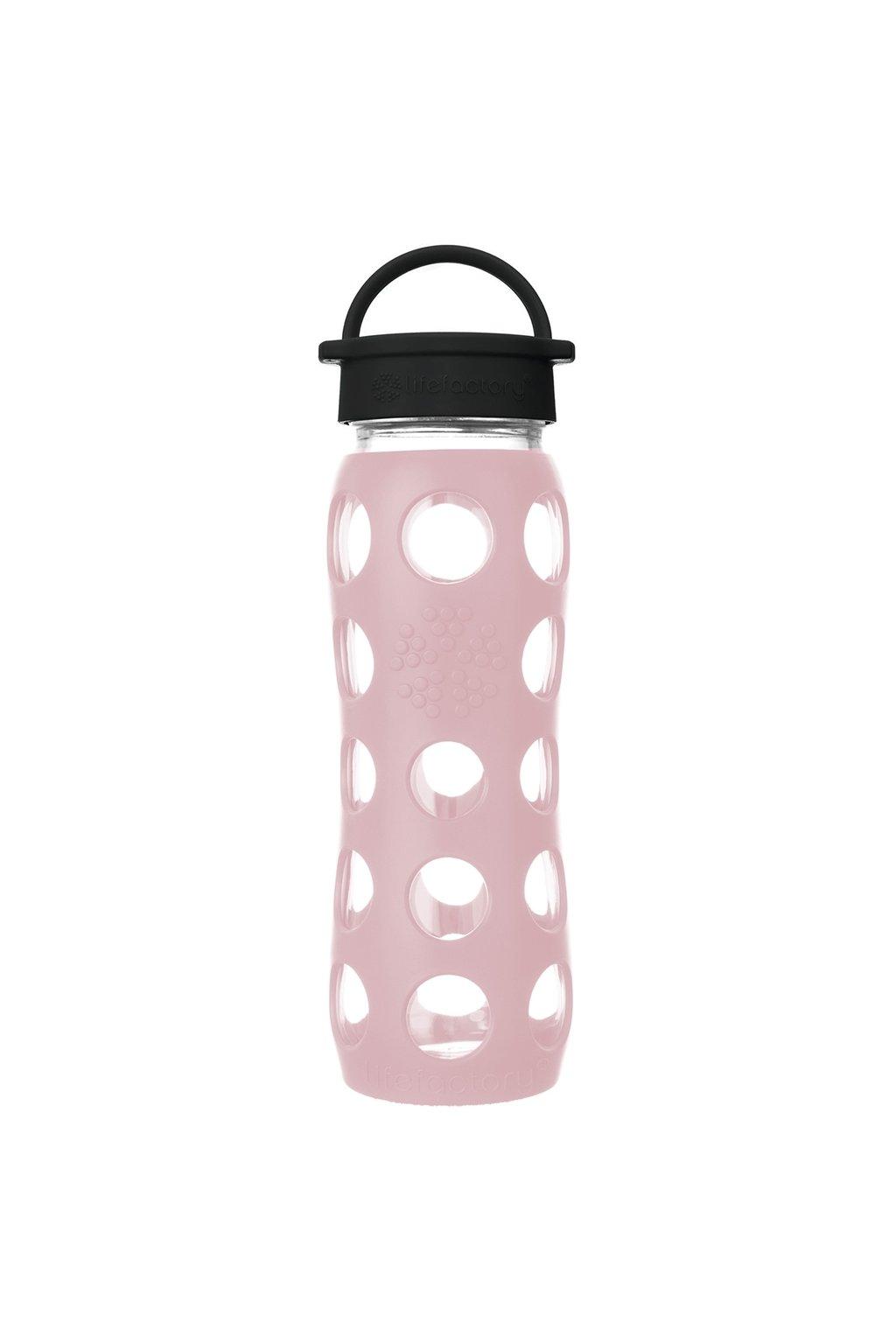 Skleněná láhev na pití Lifefactory 650 ml desert rose