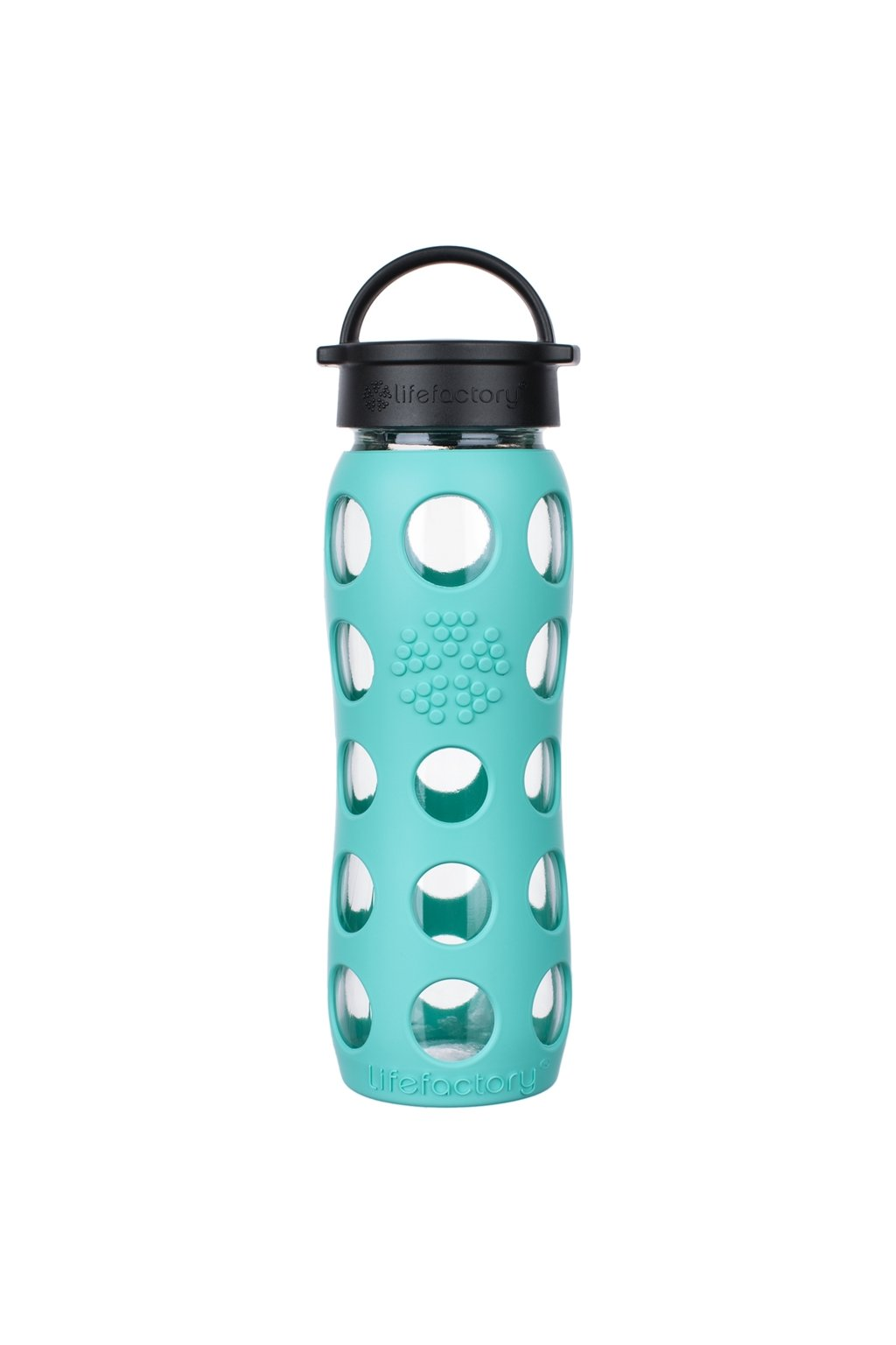 Sklenena lahev na vodu Lifefactory 650 ml Sea green