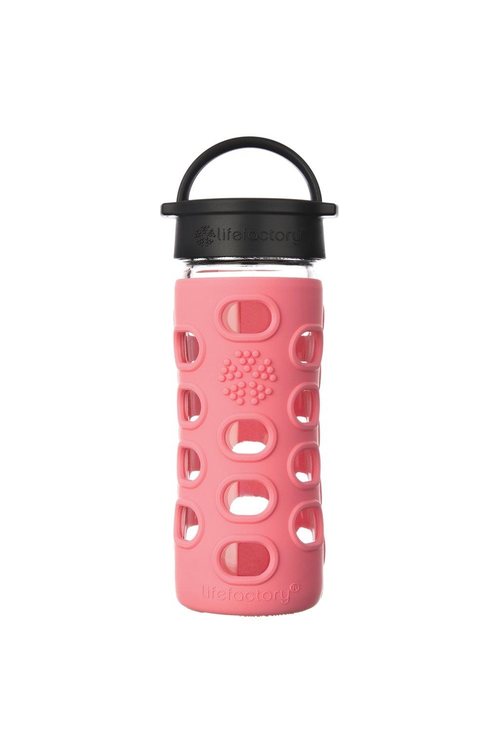 Dětská skleněná láhev Lifefactory 350 ml Coral