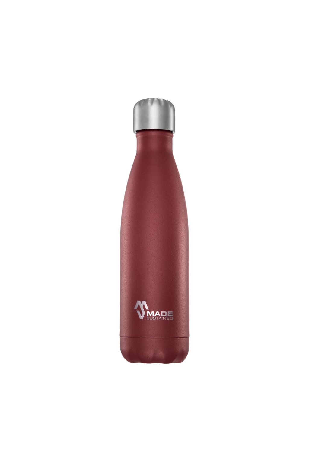 Made Sustained 500ml insulated Knight bottle Bordeaux red (002)