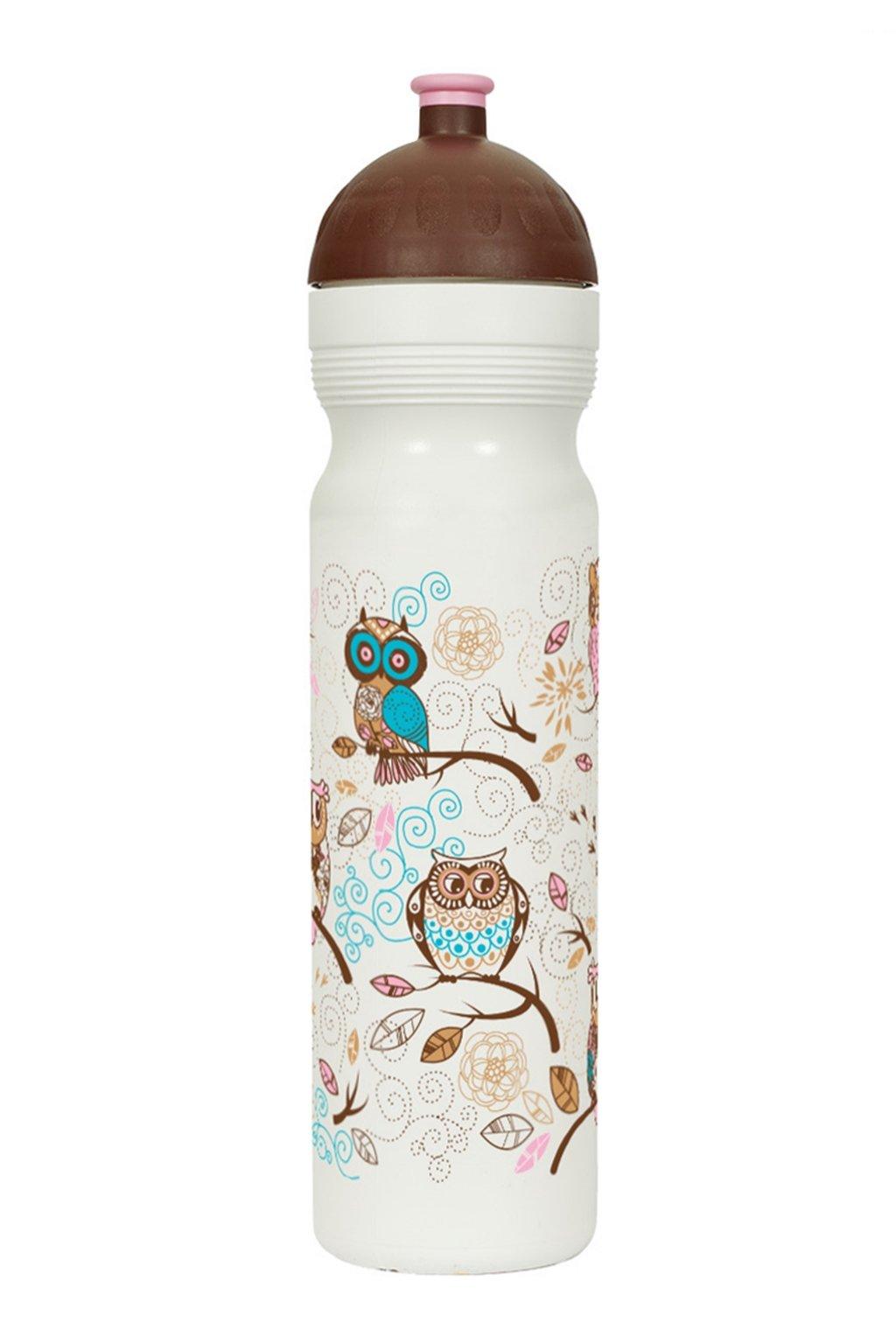 Plastove lahve na vodu pro deti sovicky 1 litr