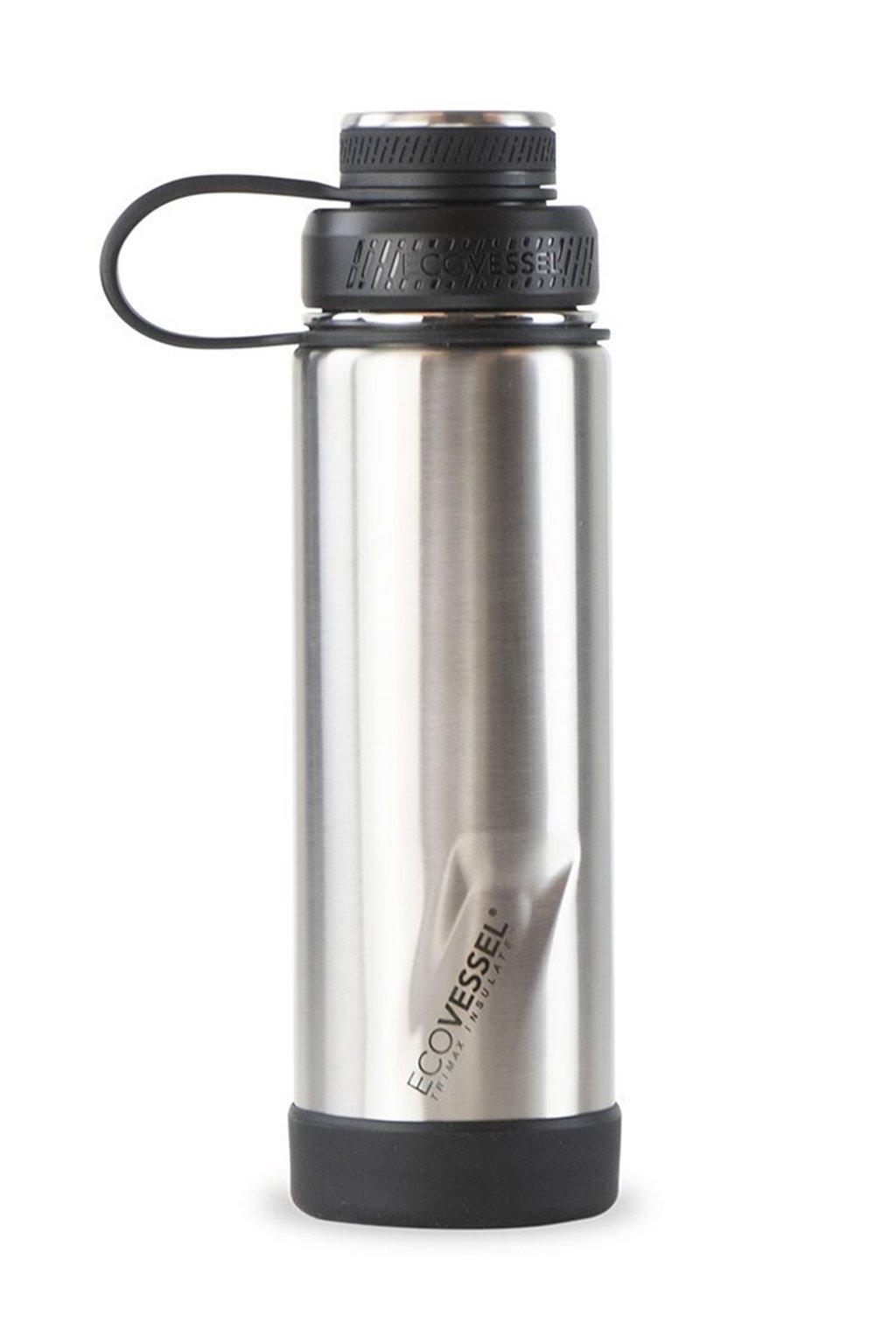 Termo lahev na piti Eco Vessel Boulder 600 ml stribrna