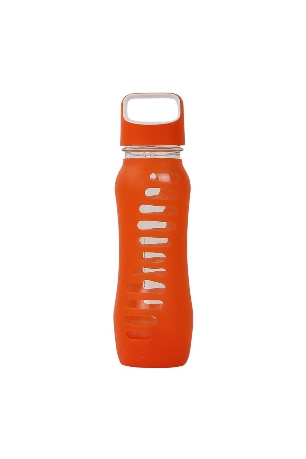 Skleněná lahev na pití Eco Vessel 650 ml oranžová