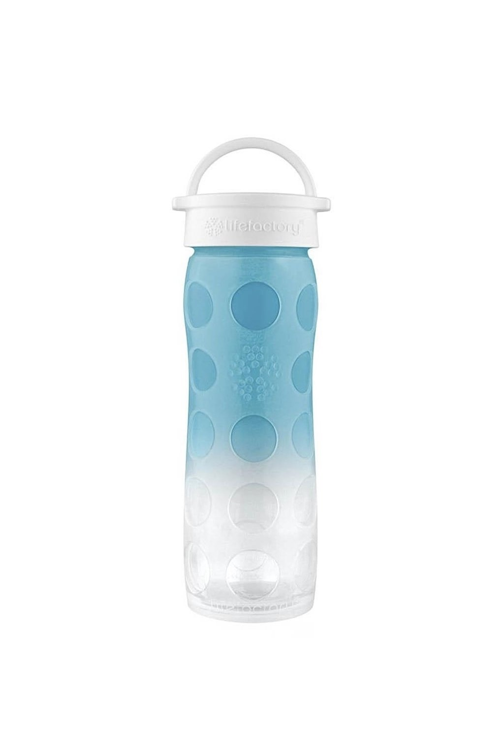 Sklenena lahev pro holky Lifefactory 475 ml Ultramarine Ombre