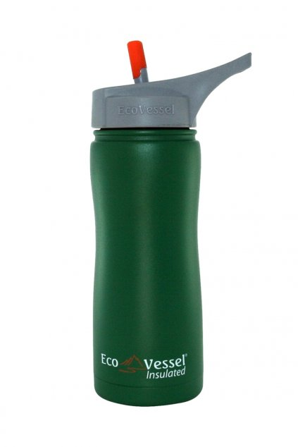 Vákuová termo láhev s pítkem Eco Vessel 500 ml zelená