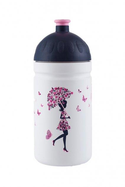 Zdravá láhev pro děti 0,5 l dívka s deštníkem