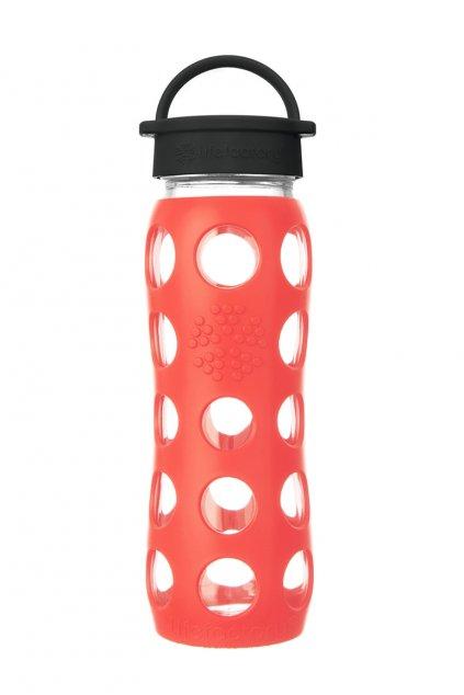 Sklenena eco lahev Lifefactory 650 ml Poppy