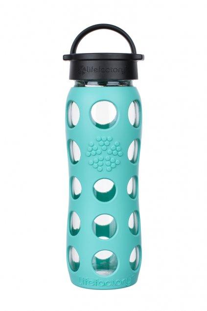 Sklenena lahev na vodu Lifefactory 650 ml Sea green