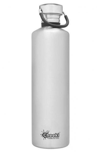 cheeki flasa 1 Litre SW Classic Silver Front