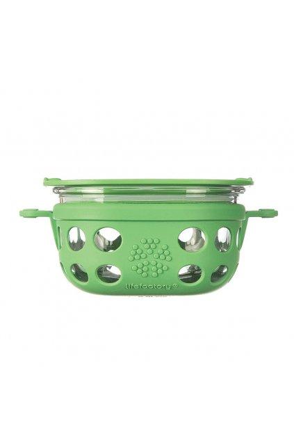 Skleněná dóza s uzávěrem Lifefactory 240 ml - zelená