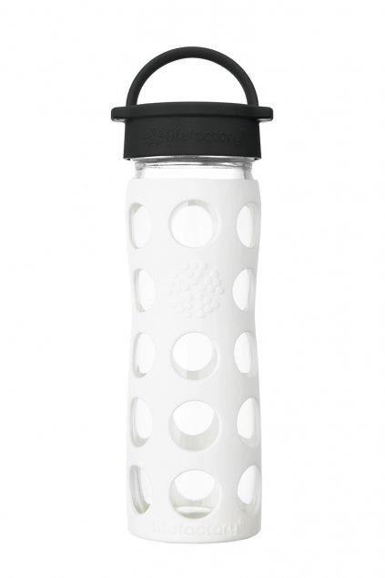 Sklenena lahev na piti Lifefactory 475 ml bila