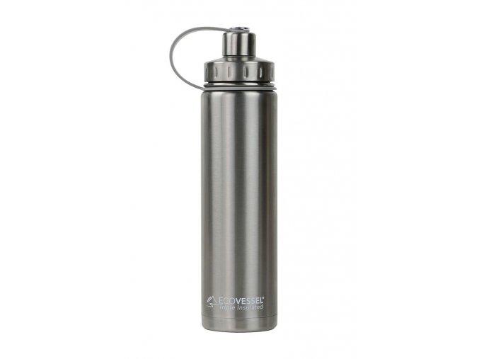 Sportovní termoláhev Eco Vessel 700 ml stříbrná