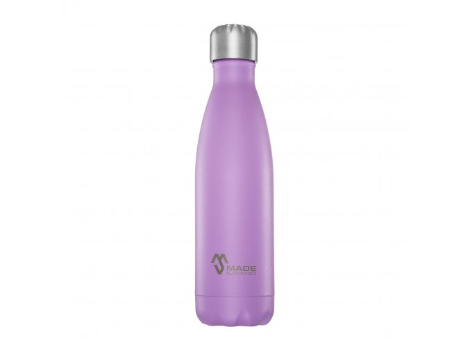 Made Sustained 500ml insulated Knight bottle Violet (002)