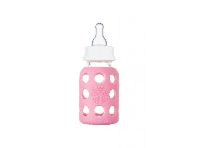 Skleněná láhev pro kojence Lifefactory 120 ml Pink