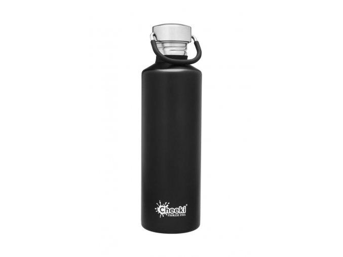 Láhev na pití z nerezu na kolo 750 ml černá