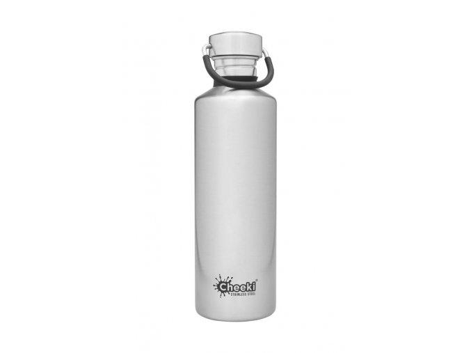 Lahev na vodu a pití 750 ml Cheeki stříibrná