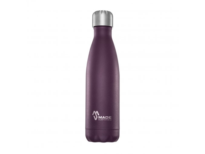 Made Sustained 500ml insulated Knight bottle Purple (002)