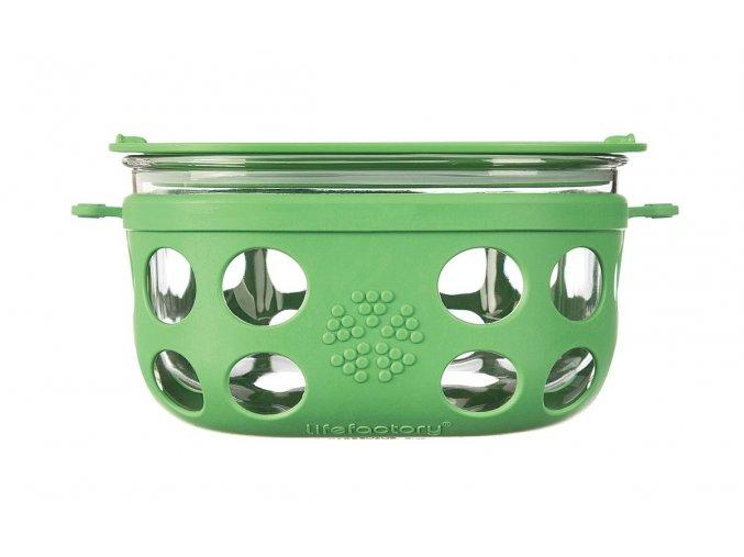 Skleněná dóza na potraviny s víkem Lifefactory 950 ml - zelená