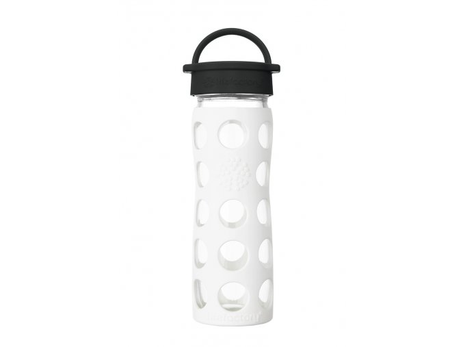Skleněná láhev Lifefactory 475 ml bíla