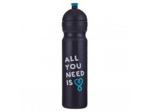 Zdravá lahev plastová 1L - UAX All you need černá 1 L