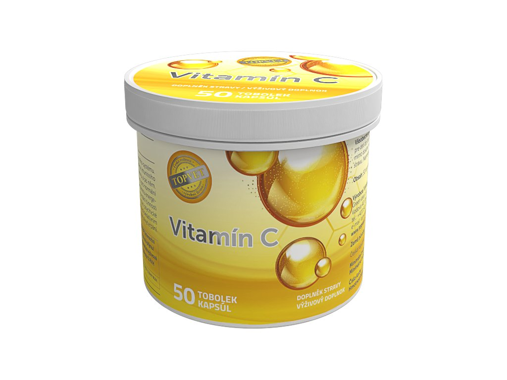 TOPVET Vitamín C 600mg 50 ks