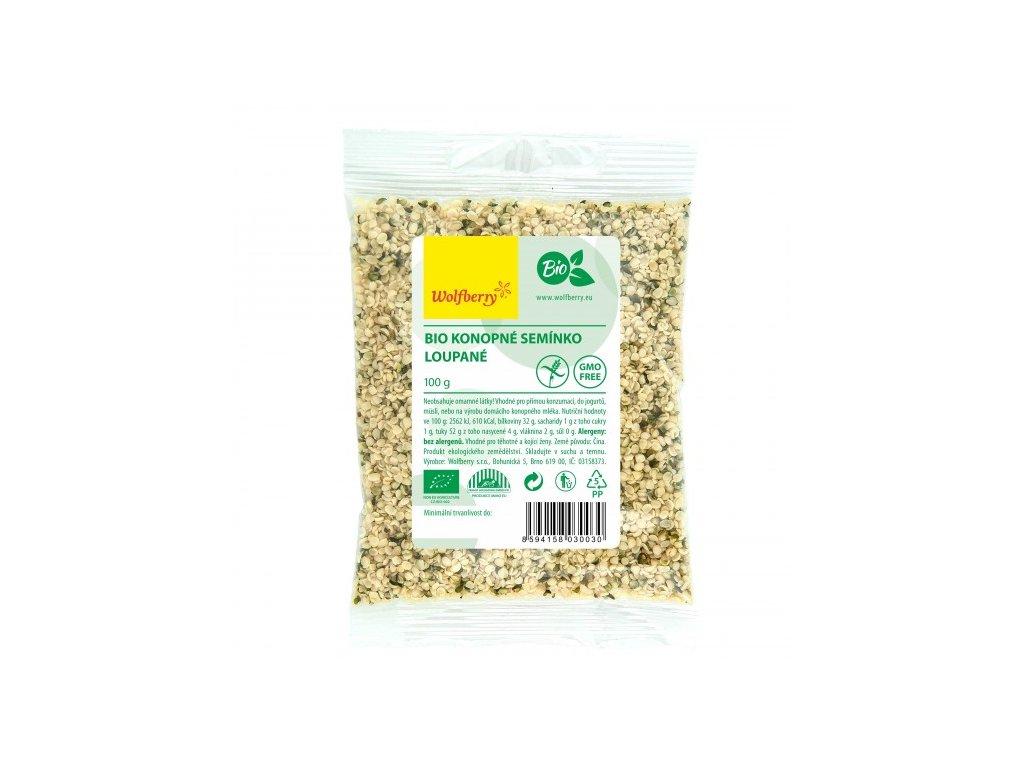 konopne seminko loupane wolfberry bio 100 g