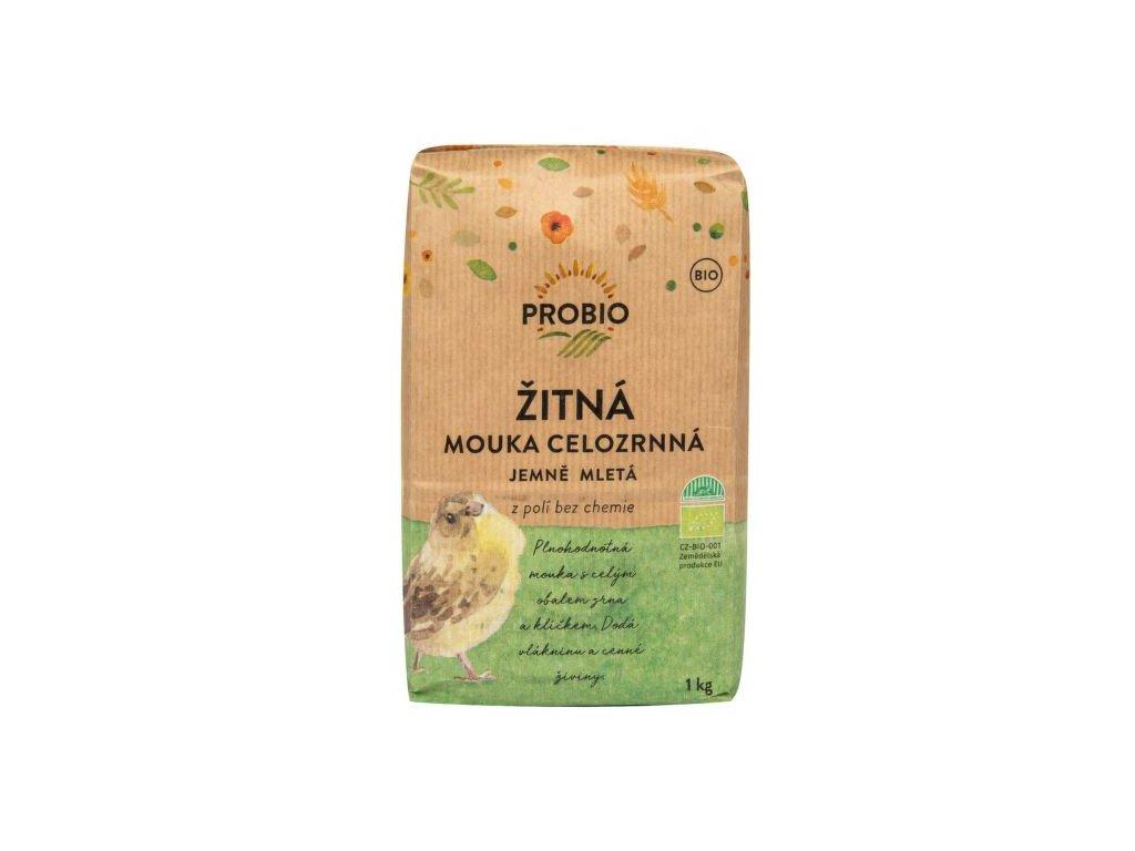 Mouka žitná celozrnná jemně mletá 1 kg BIO PROBIO